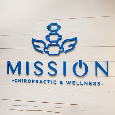 Chiropractic Columbus OH Office Wall Logo